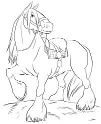 Cute Horse Coloring Page Home Look Whos Coloring Horse