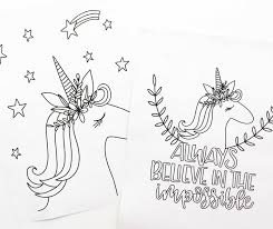 Free Printable Unicorn Coloring Sheets Amanda Kammarada