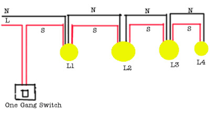wiring multiple lights to one switch diagram Multiple Light Switch Wiring Diagrams wiring diagram for 4 lights with one switch wiring inspiring multiple light switch wiring diagram