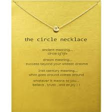 whole circle pendant necklaces with