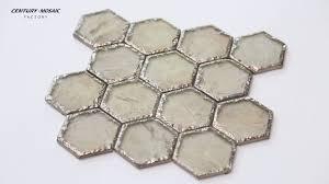 2016 new design hexagon crystal glass mosaic tile centurymosaic factory manufacturer supplier