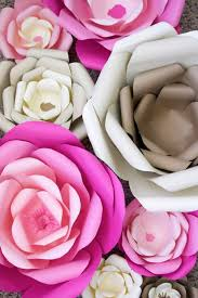 How To Make A Beautiful Flower With Paper How To Make Large Paper Flowers