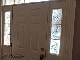 diy faux stained glass front door sidelights
