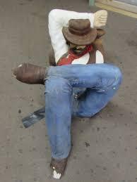 sleeping cowboy coffee table