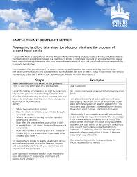 Tenant Complaint Letter Templates At Allbusinesstemplates