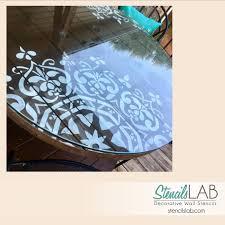 Stencil muro decorare e facile : Mandala stile stencil stencil mobili pittura murale