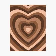 y2k heart brown