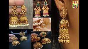 Buttalu Designs Gold Latest Party Wear Gold Jhumkas Designs Gold Buttalu