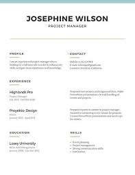 Simple Resume Template The 2019 List Of 7 Simple Resume Templates