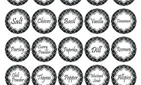 Avery Jar Labels Spice Labels Printable Jar Free Editable Fifti Info