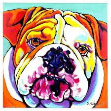 big bull dog canvas wall art