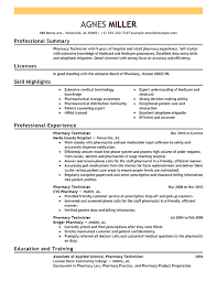 pharmacy tech resume
