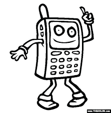 Cell Phone Coloring Page Cell Phone Coloring Pages Mobile Phone Cell