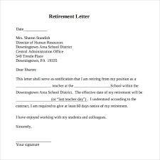 Retirement Letter Writing A Retirement Letter Outstanding Template Retirement Letter