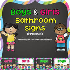 Preschool bathroom signs Visual Autism Free Boys And Girls Bathroom Signs Shopforchangeinfo Free Boys And Girls Bathroom Signs Classroom Decor Pinterest