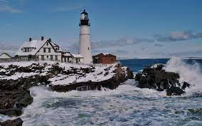 Winter Lighthouse Wallpapers - Top Free ...