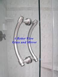 brushed nickel glass shower hardware