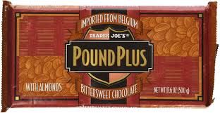 amazon trader joe s pound plus bittersweet chocolate with almonds 17 6 oz candy and chocolate bars grocery gourmet food
