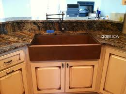 copper farm kitchen sink with a waterstone towson kitchen faucet