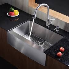 33 Inch Stainless Steel Single Bowl Curved Front Farmhouse Apron Farmhouse Stainless Steel Kitchen Sink