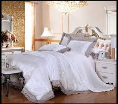 white luxury comforter sets memorable 4pcs wedding bedding modal silk cotton queen king decorating ideas 14