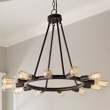 industrial lighting bare bulb light fixtures. Delighful Industrial Industrial Exposed Bulb Chandelier  Small Throughout Lighting Bare Light Fixtures C