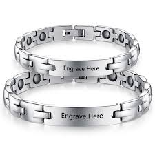 best dropship snless steal personalized couple s bracelet 2pcs ba101442