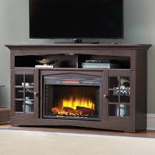 home decorators collection avondale grove 59 in tv stand infrared electric fireplace in espresso 365 166 48 the home depot