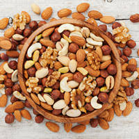 Low Fat Nuts Chart The Health Benefits Of Nuts Bbc Good Food