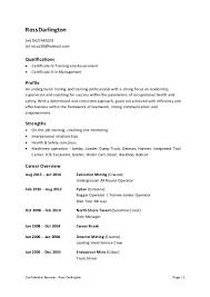 confidential resume of ross darlington
