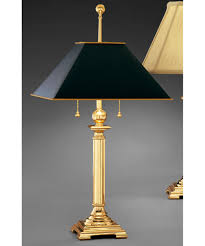 table lamps with black shades. Magnifying Glass Image Shown In Polished Brass Finish And Black Parchment Shade Table Lamps With Shades