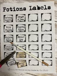 Horticulture labels, tags & signs. 7 Harry Potter Themed Potions Label Printables Bella Crafts Publishing