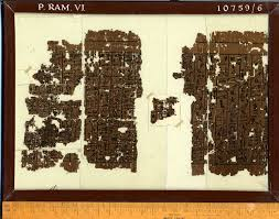 p ramesseum 6 frame 6 papyrus written on the recto in linear hieroglyphic