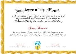 Printable Employee Of The Month Certificates Certificates Astounding Employee Of The Month Certificate