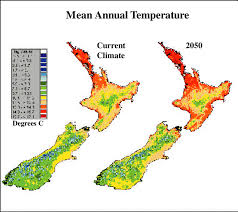 New Zealand Climate Chart A Scenario Of Change In Mean Annual Temperature In New