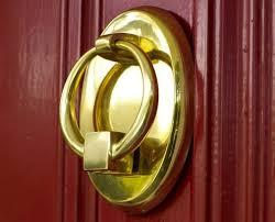 how to clean brass door knocker