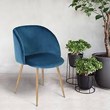 Amazon Mid Century Style Living Room Blue Velvet Accent Arm
