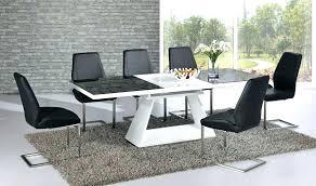 15 black gloss dining room furniture white high gloss dining table and chairs black and white