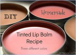 diy lip balm three diffe colors of homemade tinted