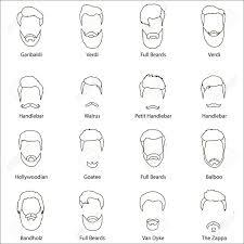 ひげと口ひげの男性漫画ヘアスタイルのセットですおしゃれな