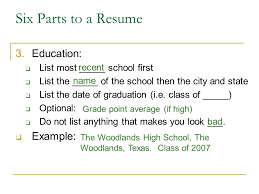 Writing A Resume Ppt Download