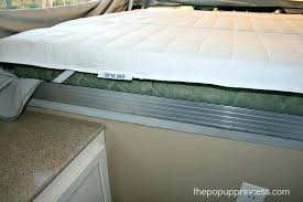 diy memory foam mattress topper how we sleep comfortably in our pop up camper the princess