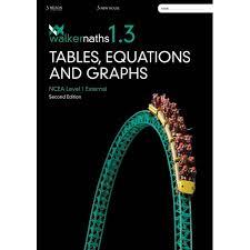 walker 1 3 maths tables equations