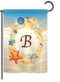 summer b monogram garden flag more