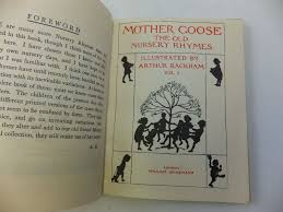photo of mother goose the old nursery rhymes two volumes ilrated by rackham