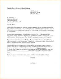 College Cover Letter Best Resume Cover Letter Examples For High
