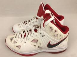 lebron 8 ps. nike lebron 8 p.s. playoffs viii white/black/red 441946-100 basketball size 10 lebron ps