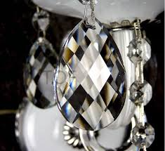 36pcs 38mm crystal chandelier parts crystal almond lamp chandelier prism x mas wedding decor