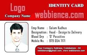 company id card templates company id card template word download free employee file format