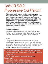 Ppt Unit 3b Dbq Progressive Era Reform Powerpoint